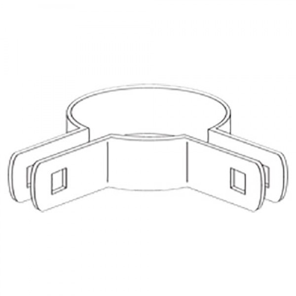 "4"" Domestic 90º Corner Beveled Brace Bands - 12 Gauge x 59/64"" (Fits 4"" OD)"