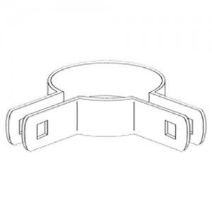 "2"" Domestic 90º Corner Beveled Brace Bands - 12 Gauge x 59/64"" (Fits 2"" OD)"