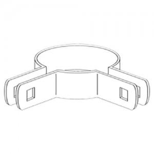 "3"" Domestic 90º Corner Beveled Brace Bands - 12 Gauge x 59/64"" (Fits 3"" OD)"