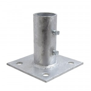 "2"" Domestic Floor Flanges - Pressed Steel (Fits 1 7/8"" OD)"
