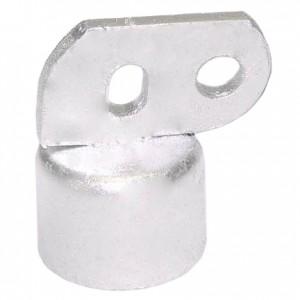 """2"""" Domestic Brace Rail End - Pressed Steel (Fits 1 7/8"""" OD)"""