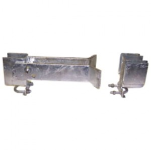 """2"""" Domestic Industrial Double Gate Latches (Fits 1 5/8"""" OD)"""