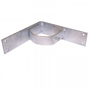 """3 1/2"""" Domestic Inside Corner Wood Fence Adapters with Set Screws"""