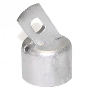 """1 5/8"""" Domestic Offset Rail End - Pressed Steel"""
