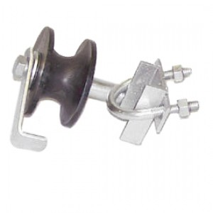 """4"""" Domestic Safety Gate Rollers with Axles and Industrial Brackets - Nylon"""