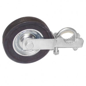 """Domestic Swing Gate Rollers with 6"""" Rubber Wheels"""
