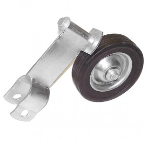 """2"""" Domestic Swivel Gate Rollers with 6"""" Rubber Wheels (Fits 1 7/8"""" OD)"""
